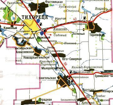 карта тихорецка с улицами